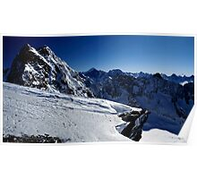 The Ecrins and mountain of Oisan Poster