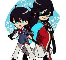 Horikawa and Kanesada by hachibani