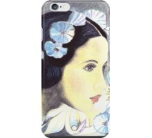 "BEAUTIFUL ""ART NOUVEAU"" WOMAN WITH LILIES  iPhone Case/Skin"