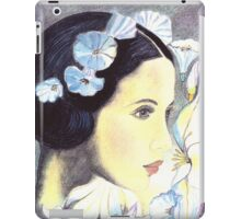 "BEAUTIFUL ""ART NOUVEAU"" WOMAN WITH LILIES  iPad Case/Skin"