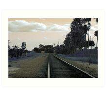 Lonesome Tracks Art Print
