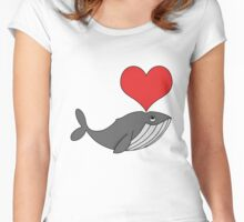 Love whales Women's Fitted Scoop T-Shirt