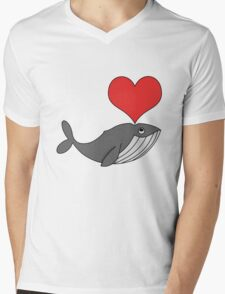 Love whales Mens V-Neck T-Shirt