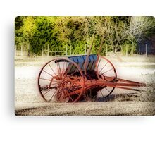 Old Seed Drill Canvas Print