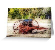 Old Seed Drill Greeting Card