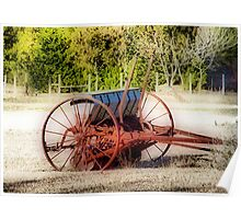 Old Seed Drill Poster