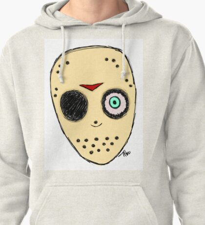 The Man Behind The Mask (Jason fan art) Pullover Hoodie
