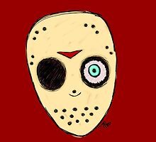 The Man Behind The Mask (Jason fan art): Transparent version by H0rr0r