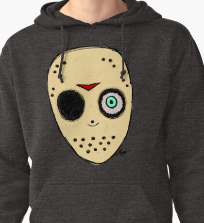 The Man Behind The Mask (Jason fan art): Transparent version Pullover Hoodie