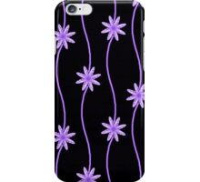 Purple Daisy Chain Floral Pattern iPhone Case/Skin