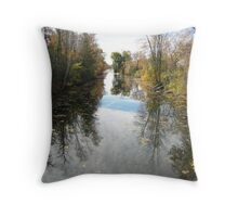 Canal Road River....(Water reflection)... Throw Pillow