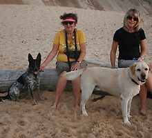 6. Kay & Tracey with Labrador & Cross Kelpie Blue Healer by Cathie Brooker