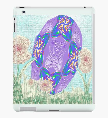 Happy Easter or Pretty Foil Egg iPad Case/Skin