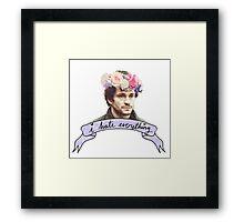 Will Graham Hates Everything. Framed Print