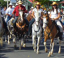 Tope - Horse Parade in Ciudad Colón, Costa Rica by Guy C. André Tschiderer