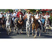Tope - Horse Parade in Ciudad Colón, Costa Rica Photographic Print