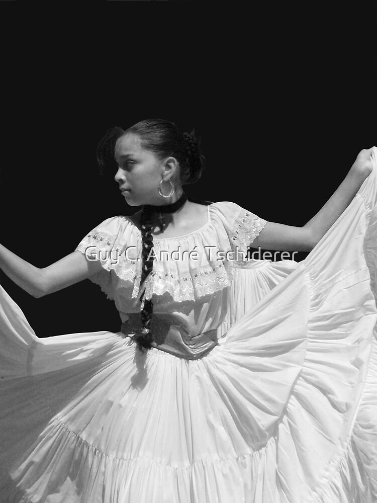 Folkloric Dancer in BW by Guy Tschiderer