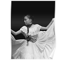 Folkloric Dancer in BW Poster