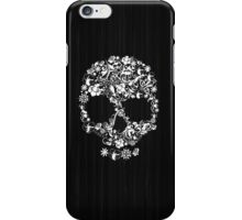 Floral Skull Wood Texture iPhone Case/Skin