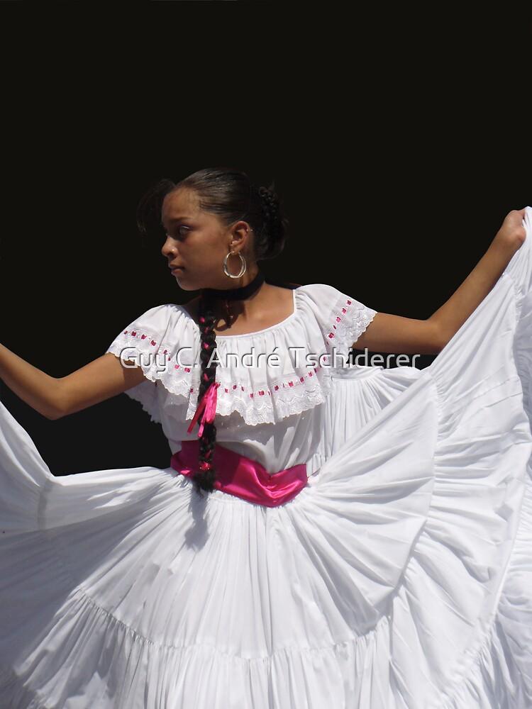 Folkloric Dancer, Ciudad Colon, Costa Rica by Guy Tschiderer