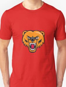 Grizzly Bear Angry Head Cartoon Unisex T-Shirt