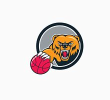 Grizzly Bear Angry Head Basketball Cartoon Unisex T-Shirt