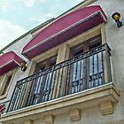 European Balcony on Main Street in the USA by Jane Neill-Hancock