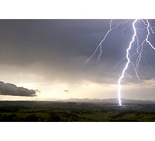 McLeans Ridges Lightning Attack 1 Photographic Print