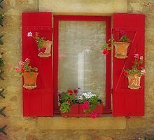 Floral Window Display by Elaine Teague