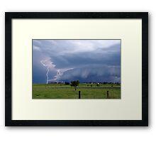 Supercell Guster Lightning near Lismore Framed Print