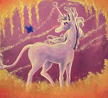 The Last Unicorn Painting by Ryan Rydalch