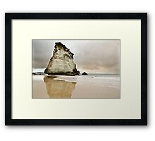 Cathedral Cove's Giant Rock Framed Print