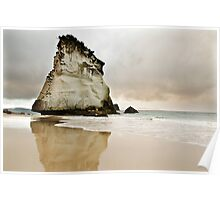 Cathedral Cove's Giant Rock Poster