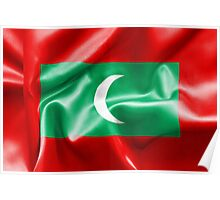 Maldives Flag Poster