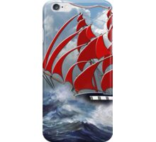The Clipper Ship Indian Queen in Rough Seas iPhone Case/Skin