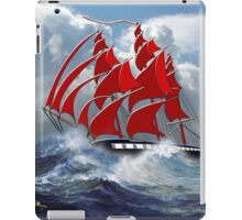 The Clipper Ship Indian Queen in Rough Seas iPad Case/Skin