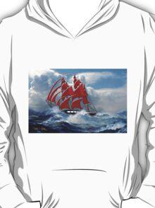 The Clipper Ship Indian Queen in Rough Seas T-Shirt
