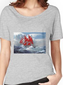 The Clipper Ship Indian Queen in Rough Seas Women's Relaxed Fit T-Shirt