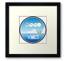 Good Vibes Island Framed Print
