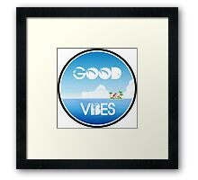 Good Vibes Island Framed Print