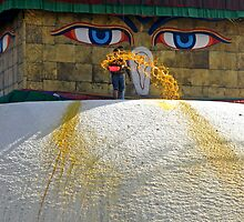 Special Moment ~ Bodhnath, Kathmandu, Nepal by Patty Boyte