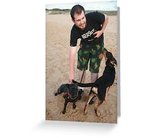 10. Chris with his English Staffy Greeting Card