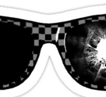 gunshot glasses Sticker