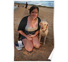 11. Jen with Kelpie-Lab Poster