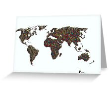 A S L ... I Love You World Map  Greeting Card
