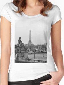 Paris. Women's Fitted Scoop T-Shirt