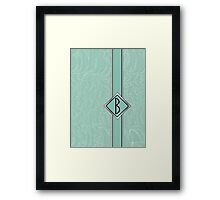 1920s Blue Deco Swing with Monogram letter B Framed Print