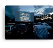 Drive-In Movie Theater (Wellfleet, Cape Cod) Canvas Print