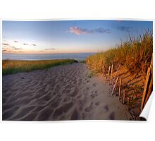 Cape Cod Beach at Sunset (Race Point, Provincetown) Poster