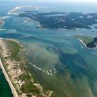 Chatham, Cape Cod Aerial Photo of New Break by Christopher Seufert
